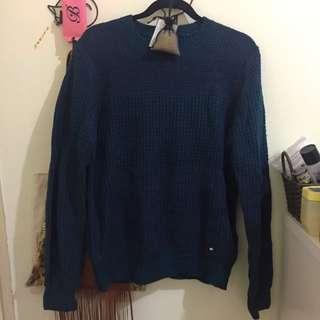 H:CONNECT 深藍綠色毛衣M