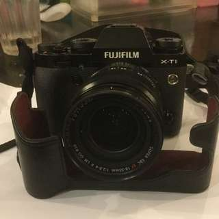 Fujifilm XT1 with 18-55mm F2.8-4.0 with Leather Case