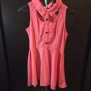 Dress Pink Orange #dress