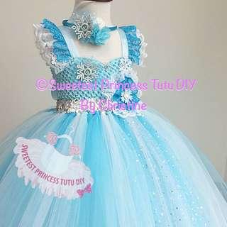 Queen Elsa Frozen Theme Tutu Dress
