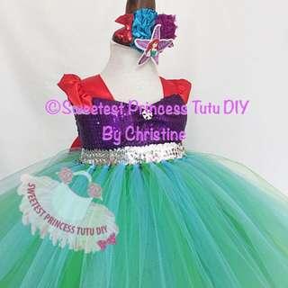 Princess Mermaid Ariel Tutu Dress
