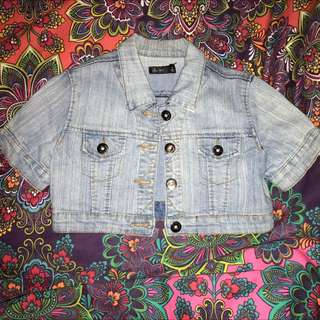 Chica Booti Cropped Denim Jacket