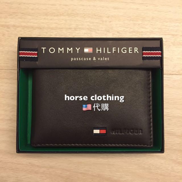現貨Tommy Hilfiger皮夾 男用適合 黑色 咖啡色 現貨販售 logo加字樣款 實品拍攝