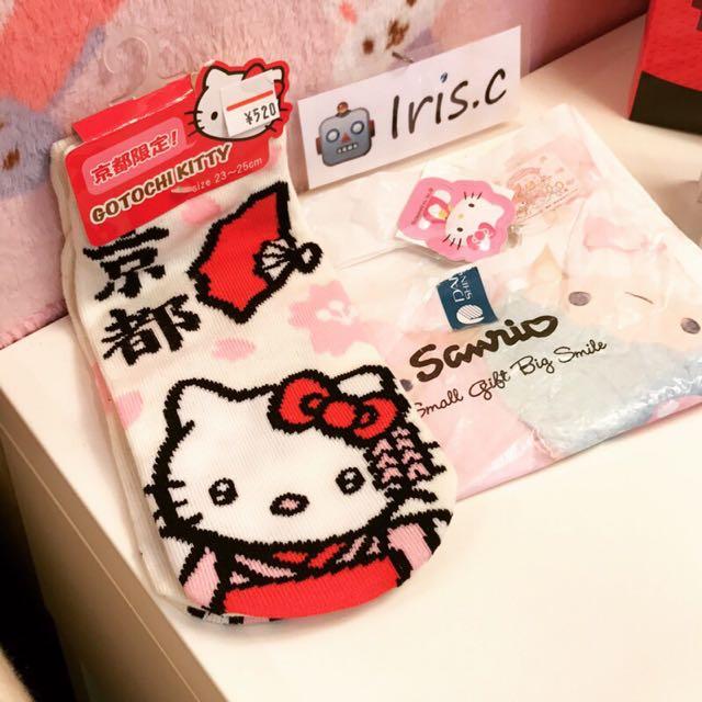 日本🇯🇵帶回京都限定Hello kitty襪子 三麗鷗授權Japan KT 凱蒂貓