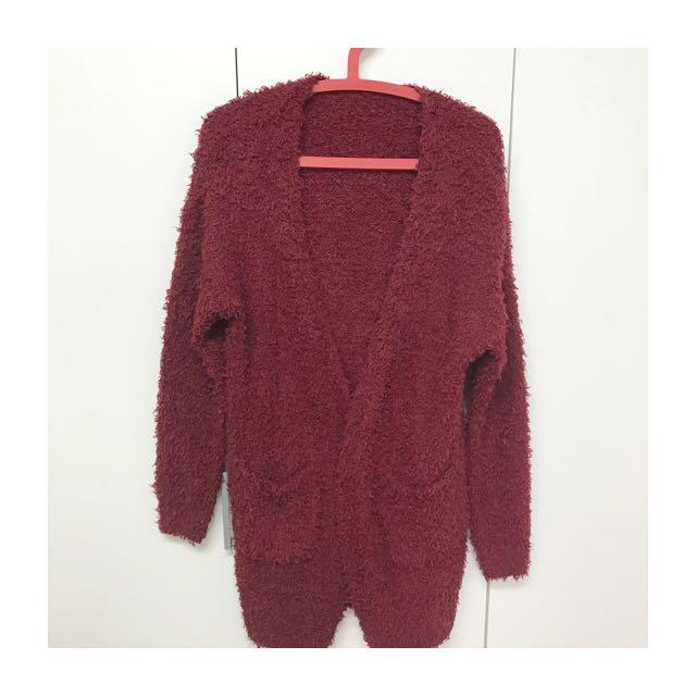 二手✨長版針織外套