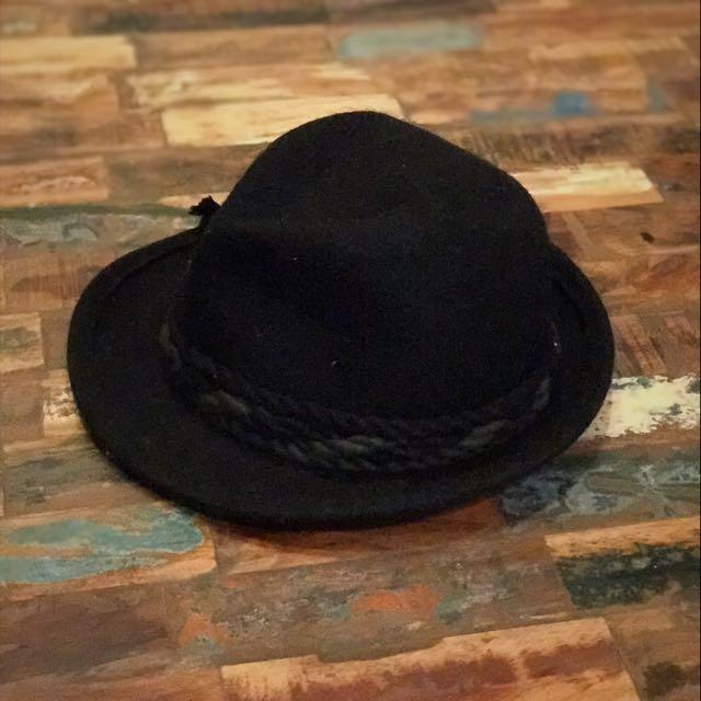 歐洲帶回毛呢古董裝飾細節紳士帽