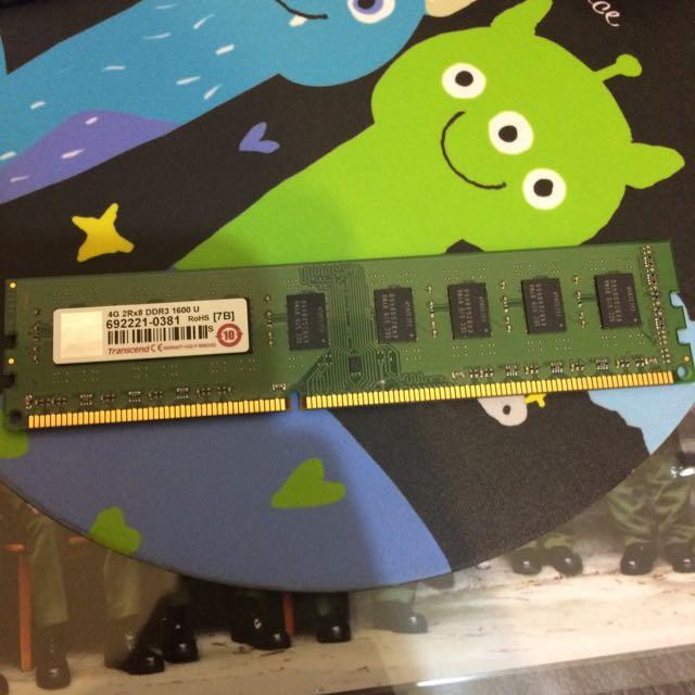 創見 4G DDR3 1600 (雙面)