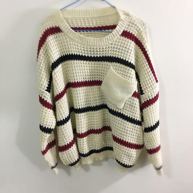 針織長袖毛衣 女生