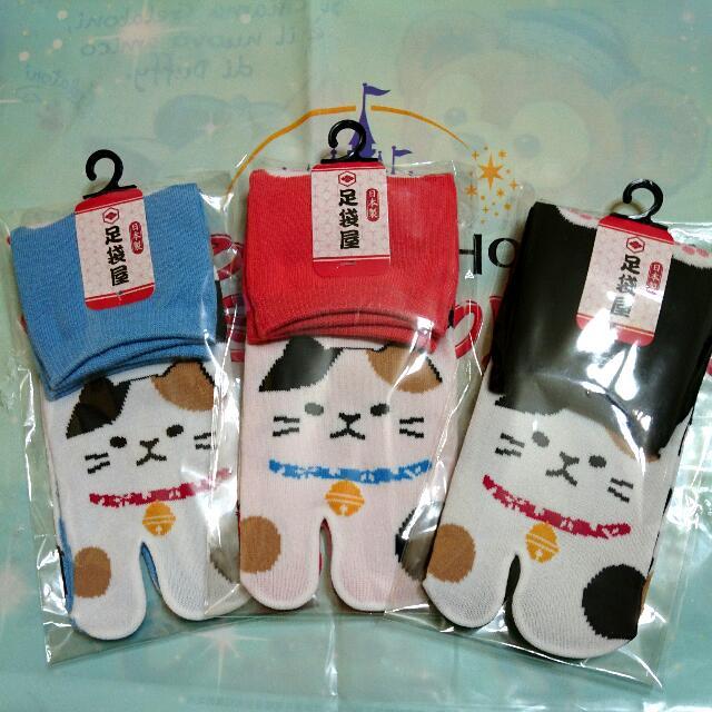 夏趴。 日本東京帶回 ✈  日本製 貓咪襪子(共三色)