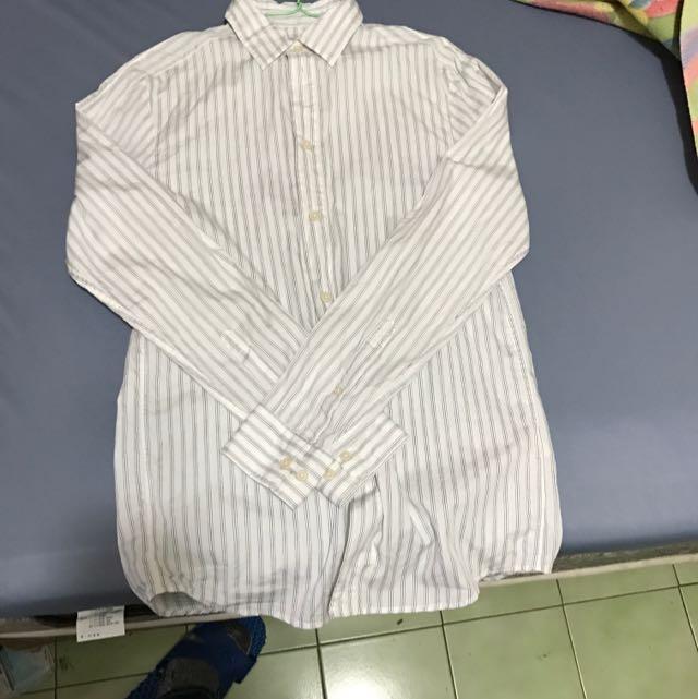 正品 H&M 條紋襯衫 Xs號