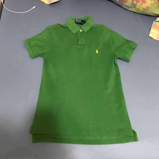 正品 Ralph Lauren 綠色polo衫 S號
