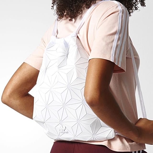 AUTH ADIDAS ISSEY MIYAKE 3D GYM SACK IN WHITE, Women's ...
