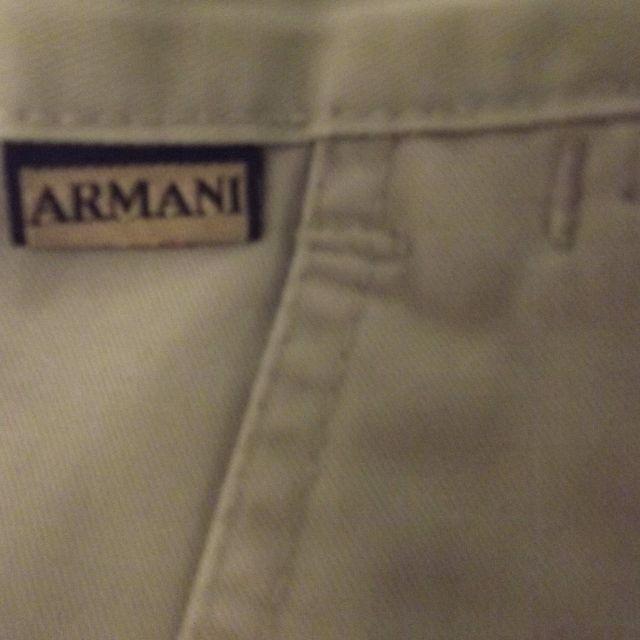 Armani Designer Mens Pants Khaki Sz 48