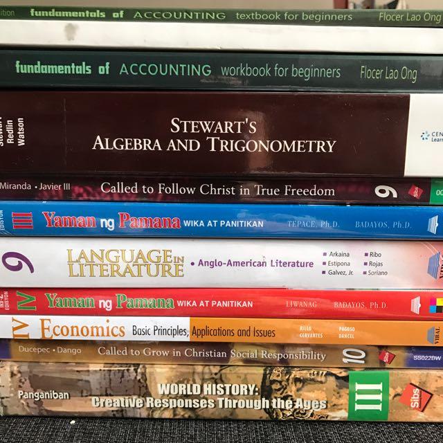 Assorted High School Textbooks