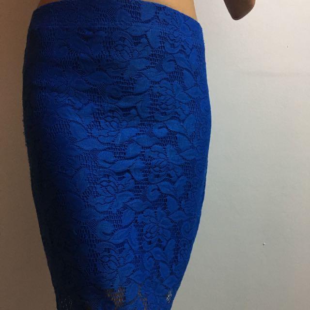 Bayo Lace Pencil Cut Skirt