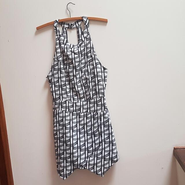 Black and White Playsuit