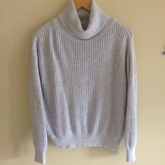 Brandy Melville Heather Grey Knit Sweater