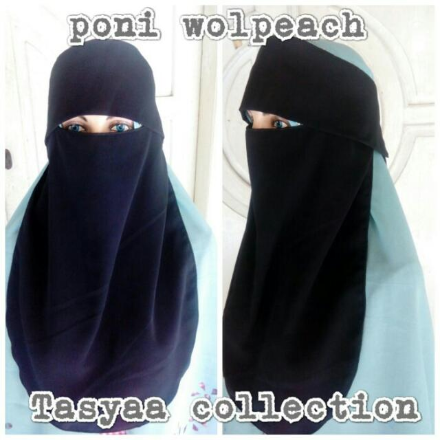 Cadar Bandana Poni Wolpeach Niqab Purdah Olshop Fashion Olshop