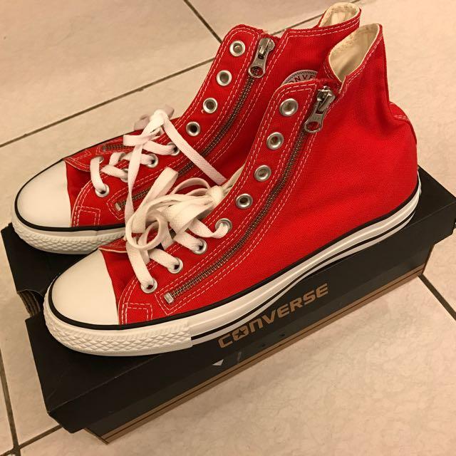 Converse Chuck Taylor All Star 高筒 基本款 帆布 拉鍊款 雙拉鍊 紅色