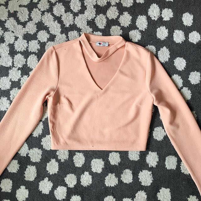 Crop Top Long Sleeve Choker