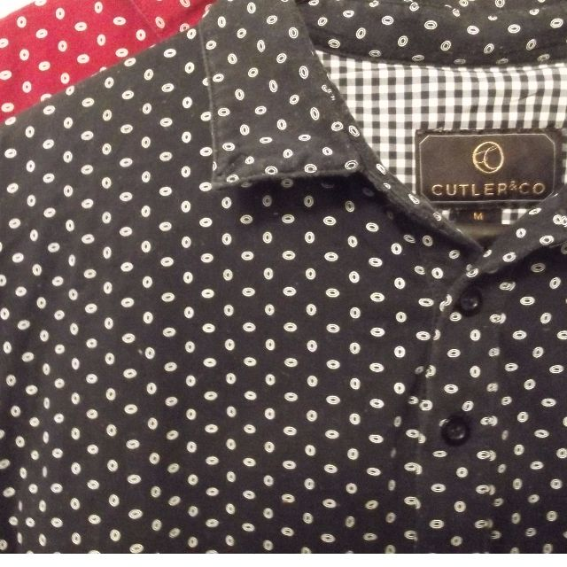 Cutler and Co Designer size M polo shirt RED/BLACK