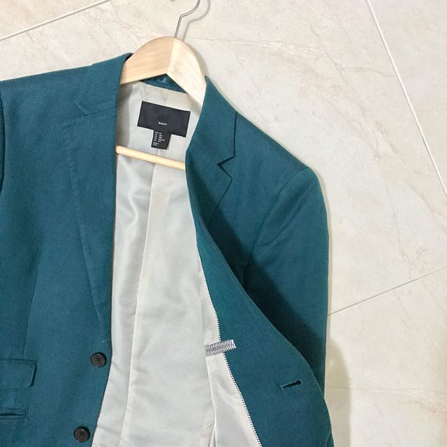 Dark Green Suit Jacket Men S Fashion Clothes On Carousell