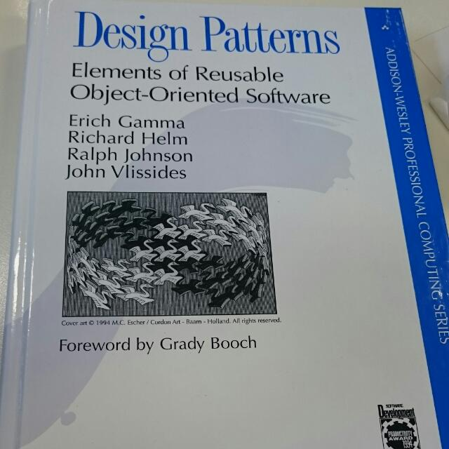 Design Patterns Elements Of Reusable Object Oriented Software Books Stationery Fiction On Carousell