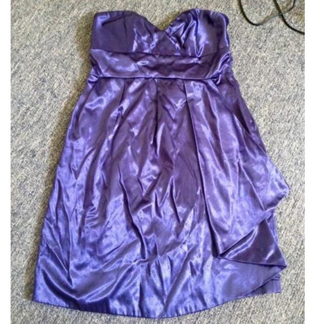 Dotti size 14 strapless purple dress