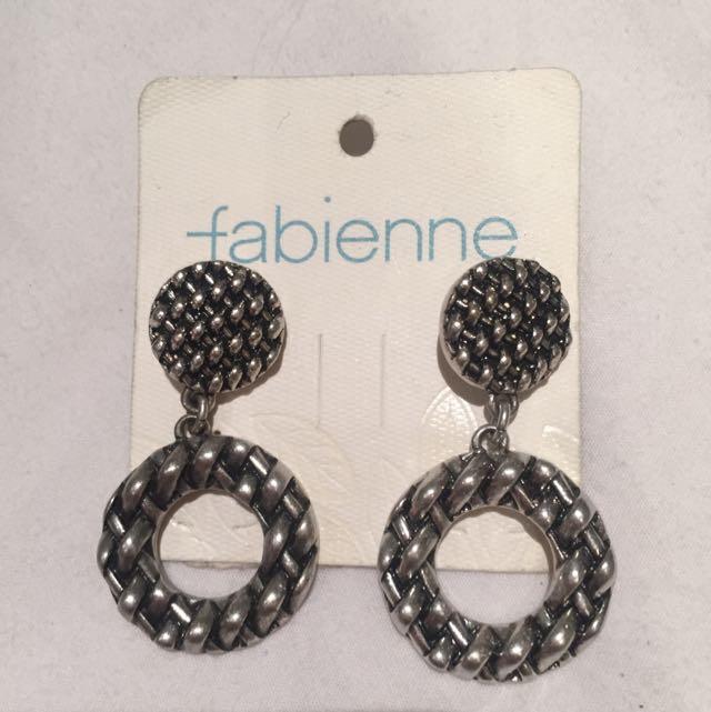 Fabienne metal silver earrings - New