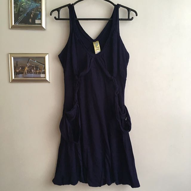 FOLDED & HUNG Navy Blue Dress