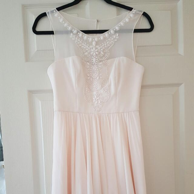 Make an Offer! Forever New Beaded Soft Pink Dress Size 8