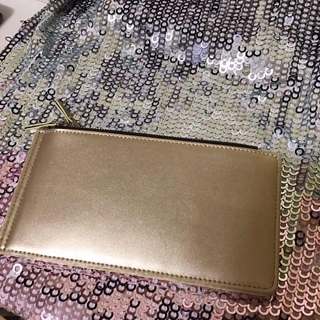 Gold Wallet/Pouch/Clutch