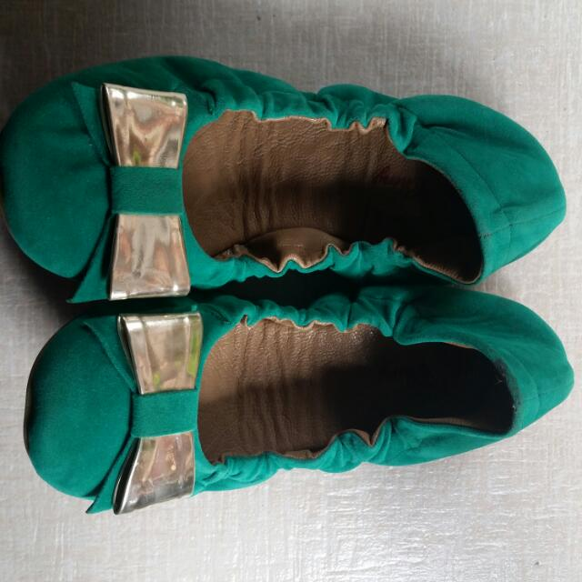 Green Doll Shoes