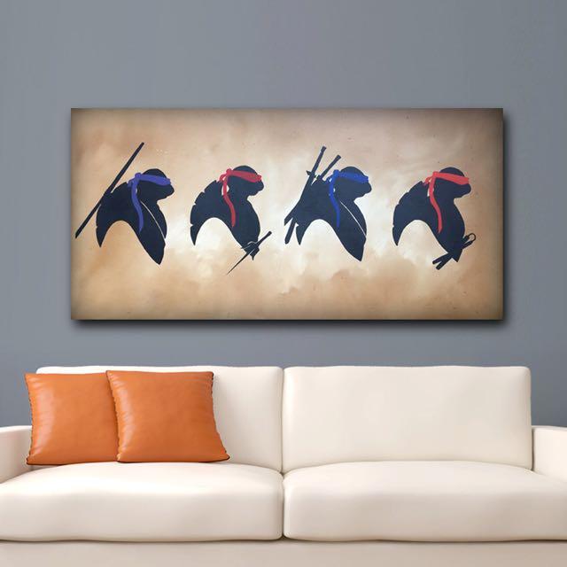 Hand Painted Teenage Mutant Ninja Turtles Canvas Art