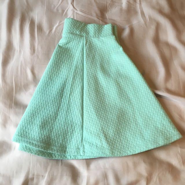 H&M teal skirt