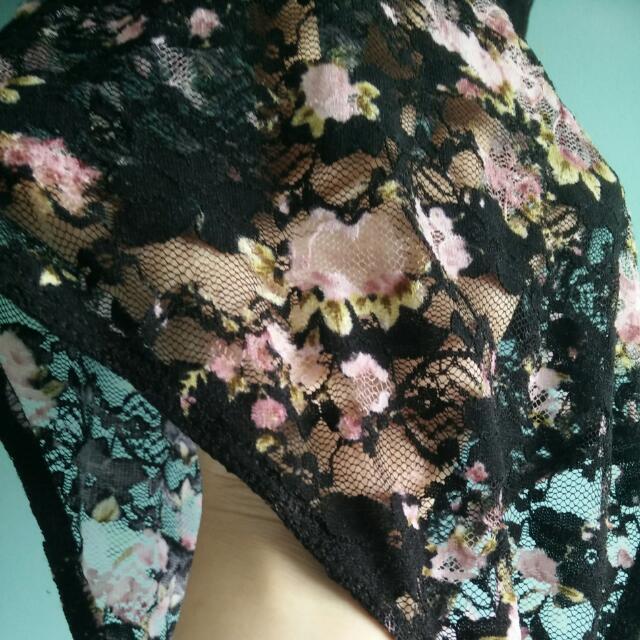 Lace Floral Bodysuit