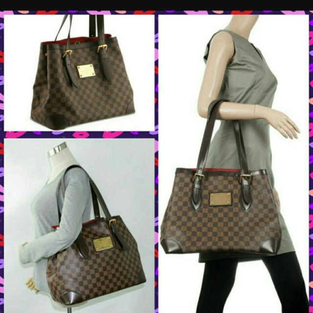 6b1e8754bbb7 Louis Vuitton Hampstead MM Damier Ebene