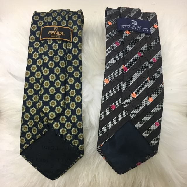 Men's Fendi And Givenchy Tie