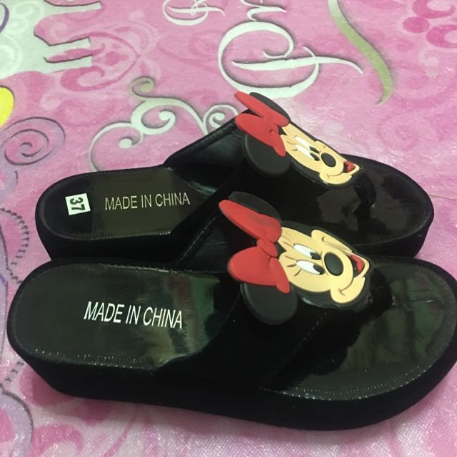 Mickey Mouse Slippers Wedge