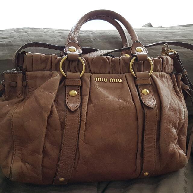 7062ff34689 MIU MIU Vitello Lux Handbag