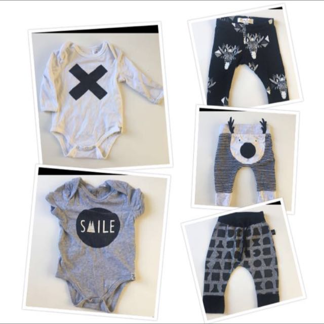 Mixed Monochrome Baby Clothing PLUS Surprise Gift
