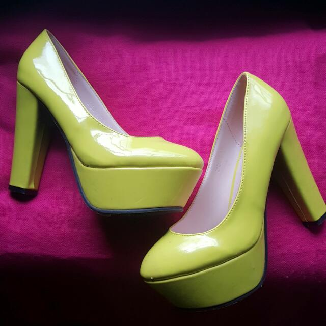 270d7ec7f48d Neon Yellow Chunky Platform Shoes