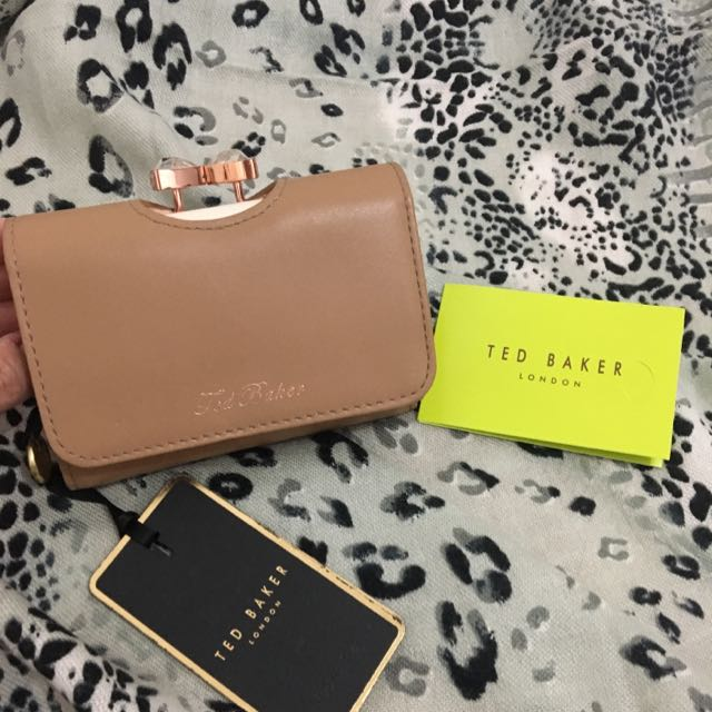 New! Ted Baker Bow Top Leather Wallet
