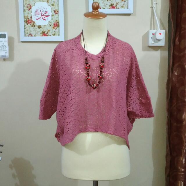 OUTER CROP TOP DUSTY PINK