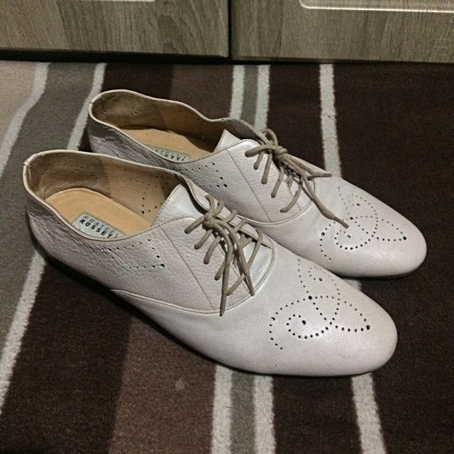 Repriced!! Oxford Shoes For Women (light Beige)