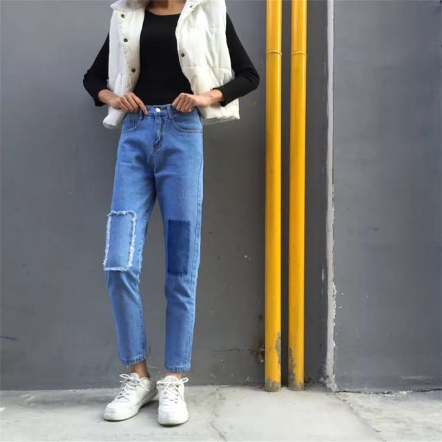Patchy Jeans