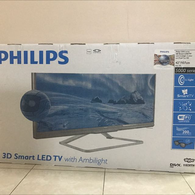 "Philips 42"" 3D Smart Led TV"