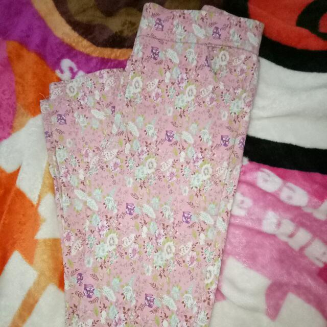 Pink Flower Legging
