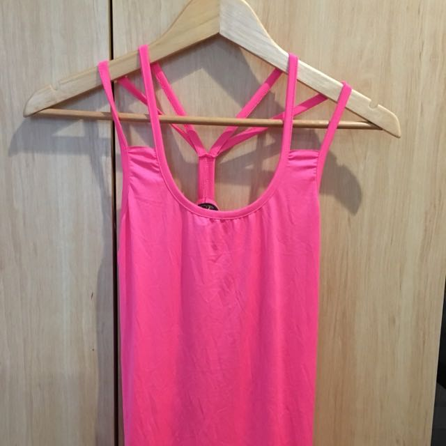 Pink Strappy Top Size Medium