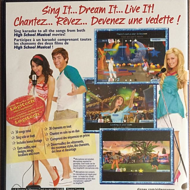 PS2 Sing It! High School Musical Game